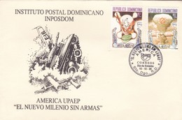 EL NUEVO MILENIO SIN ARMAS-FDC 1999 SANTO DOMINGO, REPUBLICA DOMINICANA - BLEUP - Dominican Republic