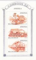 1997 Angola Trains Railways Miniature Sheet Of 3 MNH - Angola