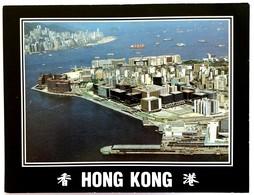 #9  HONG KONG From Bird's Eye View, The Port - China - Big Size Used Postcard 1991 - Chine (Hong Kong)