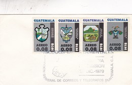 ESCUDOS ESTATAMENTALES-FDC 1978 GUATEMALA - BLEUP - Guatemala