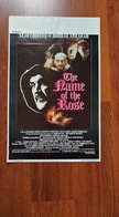 Affiche. Cinéma. Le Nom De La Rose. The Name Of The Rose. Jean-Jacques Annaud. Sean Connery. F. Murray Abraham - Posters