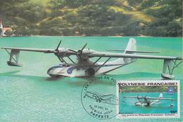 Carte  Maximum  1er  Jour   POLYNESIE      Les  Avions  En   Polynésie :  CATALINA   1980 - Maximum Cards
