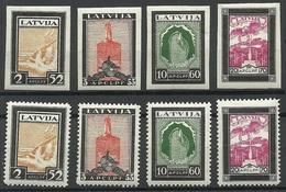 LETTLAND Latvia 1933 Michel 215 - 218 A + B * - Lettonie