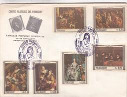 FAMOSAS PINTURAS MUNDIALES-FDC 1967 PARAGUAY - BLEUP - Art