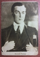 Old Soviet Postcard 1927 BUSTER KEATON American Silent Film Actor Great Comedian. Elegant Gentleman - Actors