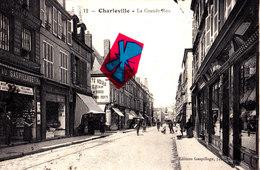 CHARLEVILLE - La Grande Rue - Carte Animée - Charleville