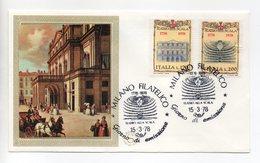 Italia - 1978 - Busta FDC Filagrano - 1778-1978 Teatro Alla Scala - Con Doppio Annullo Milano Filatelico  - (FDC13764) - F.D.C.