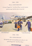 Menu Air France Classe Business - 50ème Anniversaire Paris - New-York 1996 - Menus