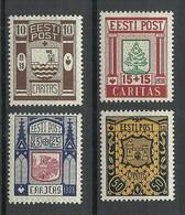 Estland Estonia Estonie 1938 CARITAS Michel 131 - 134 MNH - Estonie