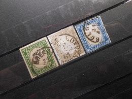 Mi 10c/11c/12a - Viktor Emanuel Ll - 1855  Mi 390,00 € - Sardegna