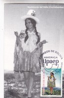 VESTIMENTA DEL VALLE, COCHABAMBA. MAXIMUM CARD 1997, LA PAZ, BOLIVIA-CARD - BLEUP - Bolivia