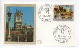 Italia - 1978 - Busta FDC Filagrano - Serie Turistica - Udine - Con Doppio Annullo Trento  - (FDC13765) - F.D.C.