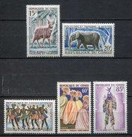 Congo 1964. Yvert 162-66 ** MNH. - Congo - Brazzaville