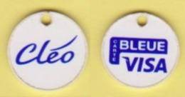 "Jeton De Caddie "" CARTE BLEUE VISA - Cléo "" _j571 - Trolley Token/Shopping Trolley Chip"
