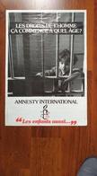 Affiche. Amnesty International. Droits De L'Homme. - Affiches