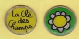"Jeton De Caddie "" La Clé Des Champs ""  Fleur [E]_j570 - Trolley Token/Shopping Trolley Chip"