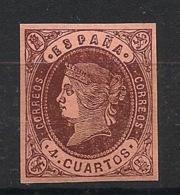 Espana - 1862 - N°Yv. 54 - Isabella II - 4c Brun - Neuf Luxe ** / MNH / Postfrisch - Nuevos