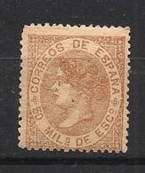 Espana - 1867 - N°Yv. 97 - Isabella II - 50m Brun - Neuf ** / MNH / Postfrisch - Nuevos