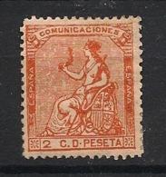 Espana - 1873 - N°Yv. 130 - Allegorie 2c Orange - Neuf * - MH VF - 1873 1ª República