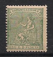 Espana - 1873 - N°Yv. 132 - Allégorie 10c Vert - Neuf Luxe ** / MNH / Postfrisch - Nuevos