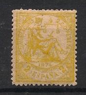 Espana - 1874 - N°Yv. 141 - Allegorie 2c Jaune - Neuf * - MH VF - 1873-74 Regencia