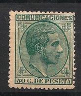 Espana - 1878 - N°Yv. 179 - Alphonse XII - 50c Vert - Neuf * - MH VF - Nuevos