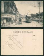 OF [ 18268 ] - FRANCE - BORDEAUX - LE QUAI BOURGOGNE CHOCOLAT VINAY MAGAZIN TRAM TRAMWAY TRANVIA METIERS - Bordeaux