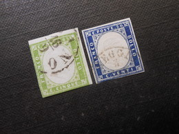 Mi 10c/12a - Viktor Emanuel Ll - 1859  Mi 140,00 € - Sardaigne