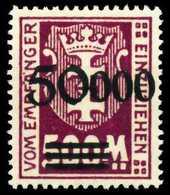 DANZIG PORTO Nr 28II Postfrisch X60D80E - Danzig