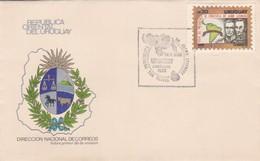VISITA DEL PRESIDENTE DE VENEZUELA DR JAIME LUSINCHI-FDC 1986 CORREOS DEL URUGUAY- BLEUP - Uruguay