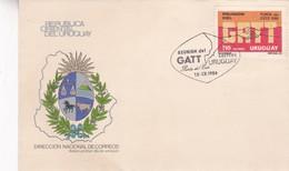 REUNION DEL GATT. PUNTA DEL ESTE-FDC 1986 CORREOS DEL URUGUAY- BLEUP - Uruguay