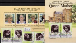 Di/Queen Mum 1985 Vincent 421/2,ZD,Block 12+Papua New Guinee Bl.14 ** 22€ Diana Hojita Ss Blocs Art Sheets Bf Royal - Célébrités