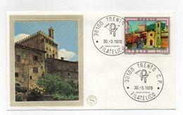 Italia - 1978 - Busta FDC Filagrano - Serie Turistica - Gubbio - Con Doppio Annullo Trento  - (FDC13767) - F.D.C.