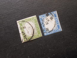 Mi 10c/12a - Viktor Emanuel Ll - 1859  Mi 140,00 € - Sardegna