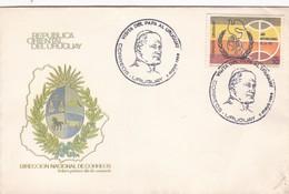 VISITA DEL PAPA AL URUGUAY. AÑO INTERNACIONAL DE LA PAZ-FDC 1988 CORREOS DEL URUGUAY- BLEUP - Popes