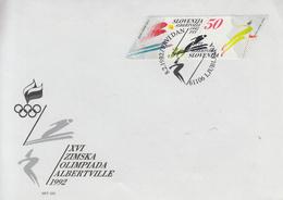Enveloppe  FDC  1er  Jour   SLOVENIE    Jeux   Olympiques   D' ALBERTVILLE    1992 - Invierno 1992: Albertville