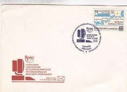 CURSO SOBRE LIQUIDACION DE CUENTAS POSTALES INTERNACIONALES MEDIANTE ORDNADOR-FDC 1989 CORREOS DEL URUGUAY - BLEUP - Uruguay