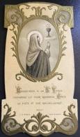 "Antico Santino Holy Card "" PRIMA COMUNIONE "" 19227  Ed. M.G.  Paris - Religión & Esoterismo"