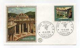 Italia - 1975 - Busta FDC Filagrano - Serie Turistica - Montecatini Terme - Con Doppio Annullo Trento  - (FDC13768) - F.D.C.