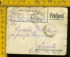 Regno WW1 Prima Guerra Posta Militare 1915 Feldpost Per Trieste (senza Testo) - 1900-44 Vittorio Emanuele III