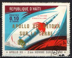 HAITI - 1971 - VIAGGIO DELLA NAVICELLA APOLLO 13 - USATO - Haïti