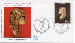 FDC FRANCE  La Vénus De Brassempouy  (Y.T.  1976) Brassempouy Et Saint-Germain-en-Laye    6/03/1976 - 1970-1979