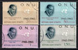 HAITI - 1965 - Dag Hammarskjold, Sec. Gen. Of The UN, 1953-61 - USATI - Haiti