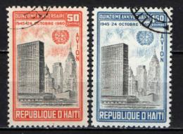 HAITI - 1960 - 15° ANNIVERSARIO DELLE NAZIONI UNITE - USATI - Haïti