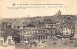 Bruxelles - Gare Du Nord Et Panorama - Chemins De Fer, Gares