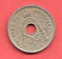 """5 Centimes , BELGIQUE , Cupro-Nickel , 1914 , """" ROYAUME DE BELGIQUE """" , N° KM # 66 - 1909-1934: Albert I"""