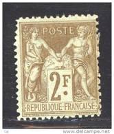 France  :  Yv  105  *               ,      N3 - 1898-1900 Sage (Type III)
