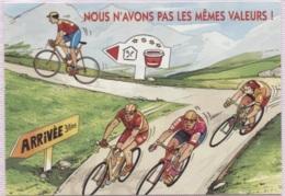 CPM - FANTAISIE HUMOUR - ILLUSTRATION - Thème Cyclisme Vélo - Edition Alternative - Cyclisme
