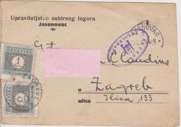 CROATIA  - KROATIEN   -  NDH   ~  JUDE, JUIF  ~    LOGOR JASENOVAC  LAGER -  1944 CONCENTRACION CAMP JEWISH PRISONER - Historical Documents
