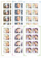 Moldova 2019 Eminent Personalities Anniversaries Commemorations  Famous Persons 6Sheetlets** MNH - Moldova